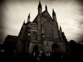 Winchester Cathedral, sepia by Dogbytes