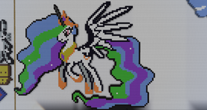 My Little Pony Pinncess Celestia Pixel Art by BannerWolf