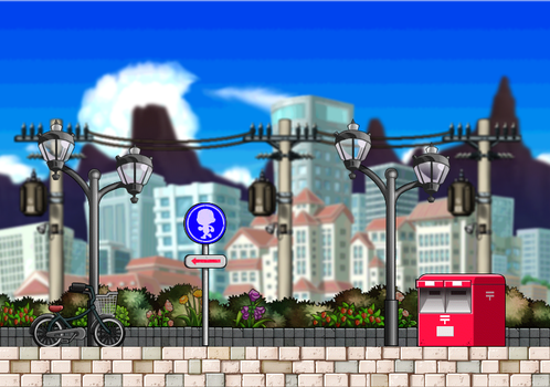 :Background: City Street by CorruptedRoses