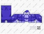 Gorilla Paper Toy by experimettle