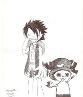 luffy and chopper by Ponyness1