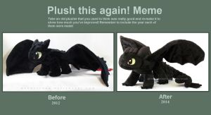 Toothless: Before and after by MagnaStorm
