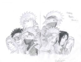 Team Minato and Team 7 by Cobletking