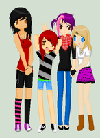 .me n my frands :3. by zombiepanda-princess