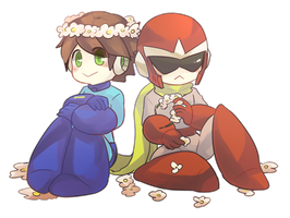 Transparent Protoman and Megaman by Leaf-subway