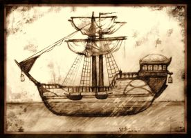 Old project ship ,,Pequod'' by elicenia