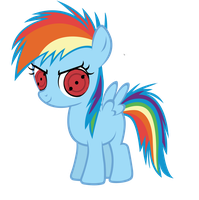 Filly Rainbow Dash (Second Level Sharingan) by DigiRadiance