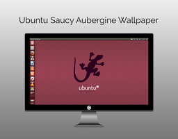 Ubuntu Saucy Aubergine Wallpaper by moonwatcher2k1