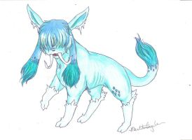 Prehistoric Glaceon - Glazaber by marmartica