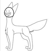 Free Chompdog lineart -With face- by IanMR