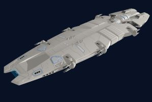 Meridian battlecruiser update by Scifiwarships