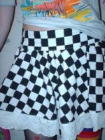 checkered skirt by knees2caps