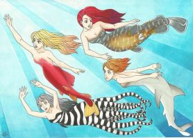 Mermaids by Sujujo
