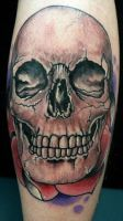 Adorned Skull Tattoo 2010 by EricScsavnickiTattoo