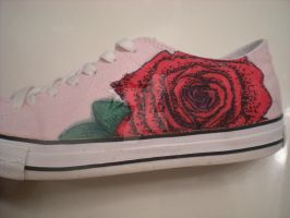 Roses Are Red Sharpie Converse Shoes by dancingchaos409