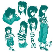Sam doodles by wogeic