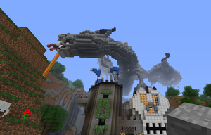 Dragons Landing of Minecraft by Black-Feather