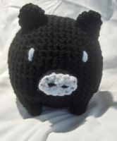 Black Crochet Monokuro Boo by PerilousBard