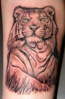tiger tattoo by asussman