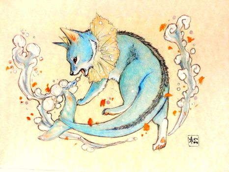 Vaporeon's Bubble-beam by PokeShoppe