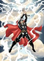 Thor in the new costume colors by JoshTempleton
