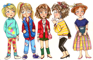 80s fashion: 5 different style by retrogrlfan