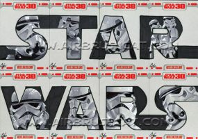 Star Wars 30 sketch cards pt8 by gattadonna