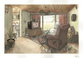 howard's room by Di---Chan