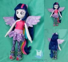 Twilight Sparkle Rainbow Rocks Plush doll by dollphinwing