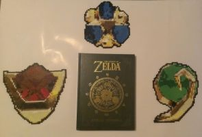 Bead Sprite Composite - Three Spiritual Stones by Katreal
