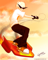 Dirk Strider . in the sky by Timeless-Knight