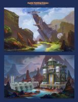 atmospheric sketches by lepyoshka