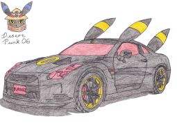 Nissan GT-R Umbreon Edition by Sir-Genesis