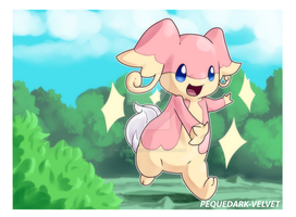 Audino's friendly slap by PEQUEDARK-VELVET