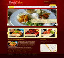 Indian Restaurant Food by LETSOC
