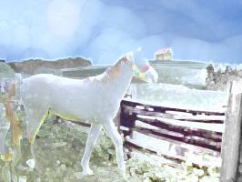 Noggle Ghost Horse in the Glimmering by Chlodulfa