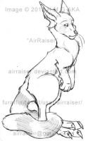 Adoptable Sale: Red Rooanda sketch 2012 by AirRaiser