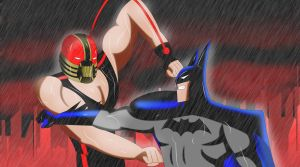.: Batman Vs Bane :. by Sincity2100