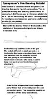 Simple Gun Drawing Tutorial by Opengunner