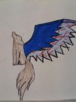 wolf with wings howling by tani102