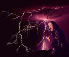 Lightning power of Tarja's voice by GaeliraGwaelon