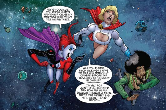 pissed off power girl by flavianos