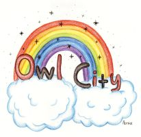 Owl City drawing by SpongePersa