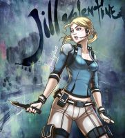 Jill Valentine =v= by Artkeyhoon
