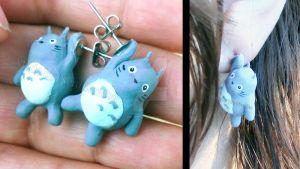 Hanging Totoro Earrings by NerdEcrafter