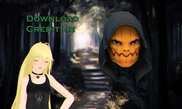 MMD: Helloween mask DL by KlaidAstoria