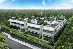 a residential complex, aerial by acest