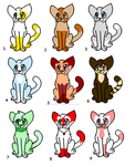 5 point Cat Adopts by galaxyghosts