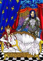 Queen of Seelie Court and knight Meliorn by Enoa79