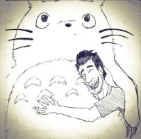 Totoro with Mark :3 by Pa3sha3